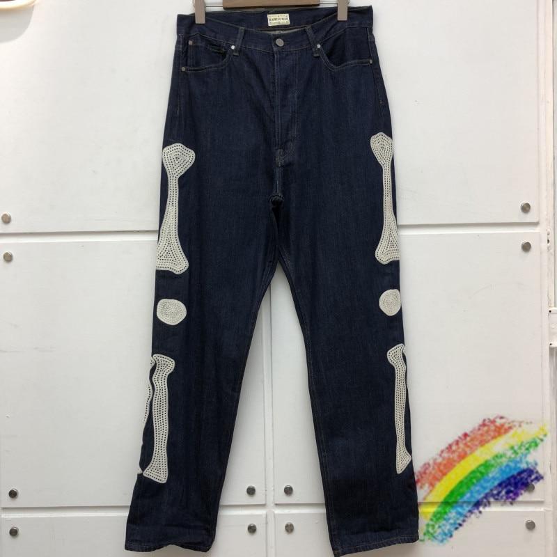 بنطلون جينز للرجال والنساء, بنطال جديد من قماش الدنيم مطرز بالقوس مناسب للرجال والنساء