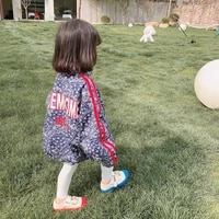girls jackets spring and autumn 2021 new spring clothes foreign style korean childrens clothes tops printed sunscreen clothes