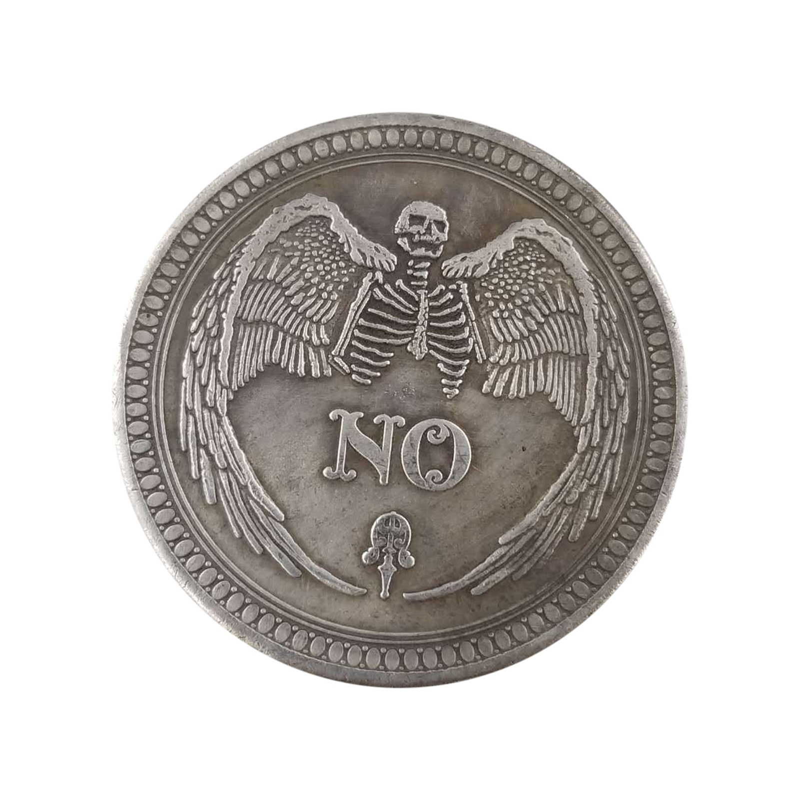 Creative Souvenir Coin zinc alloy Plated Yes or No Skull Commemorative Coin Collectible Great Gift Coins Art Collection Coins недорого