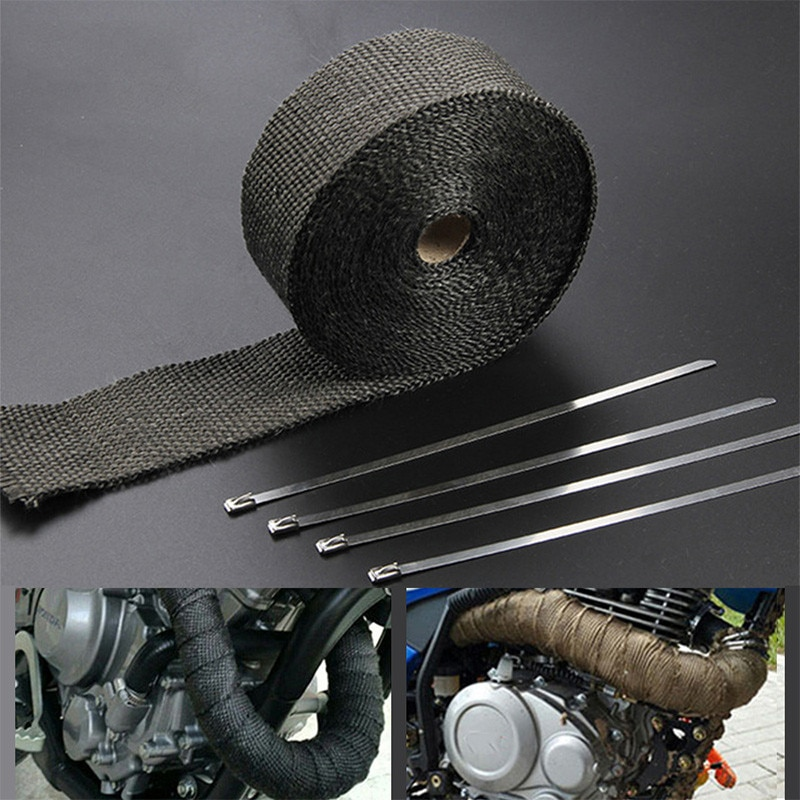 Cubierta térmica de envoltura de cinta de escape para SUZUKI gsx750f sv 1000 ltz 400 sv1000 gsxr 1000 k9 bulevar m109r accesorios de motocicleta