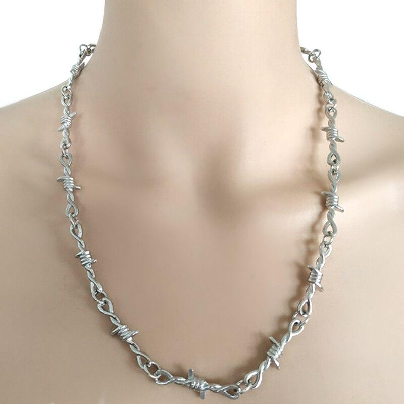 Punk unissex gargantilha cadeado pesado gargantilha gola de metal hip hop moda colar accessry streetwear masculino mulher espinhos colar