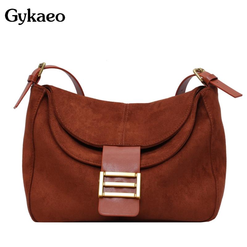 Gykaeo Luxury Handbags Women Bags Designer Small Shoulder Bag Lady Soft Leather Retro Messenger Bag Girls Casual Cross Body Bags