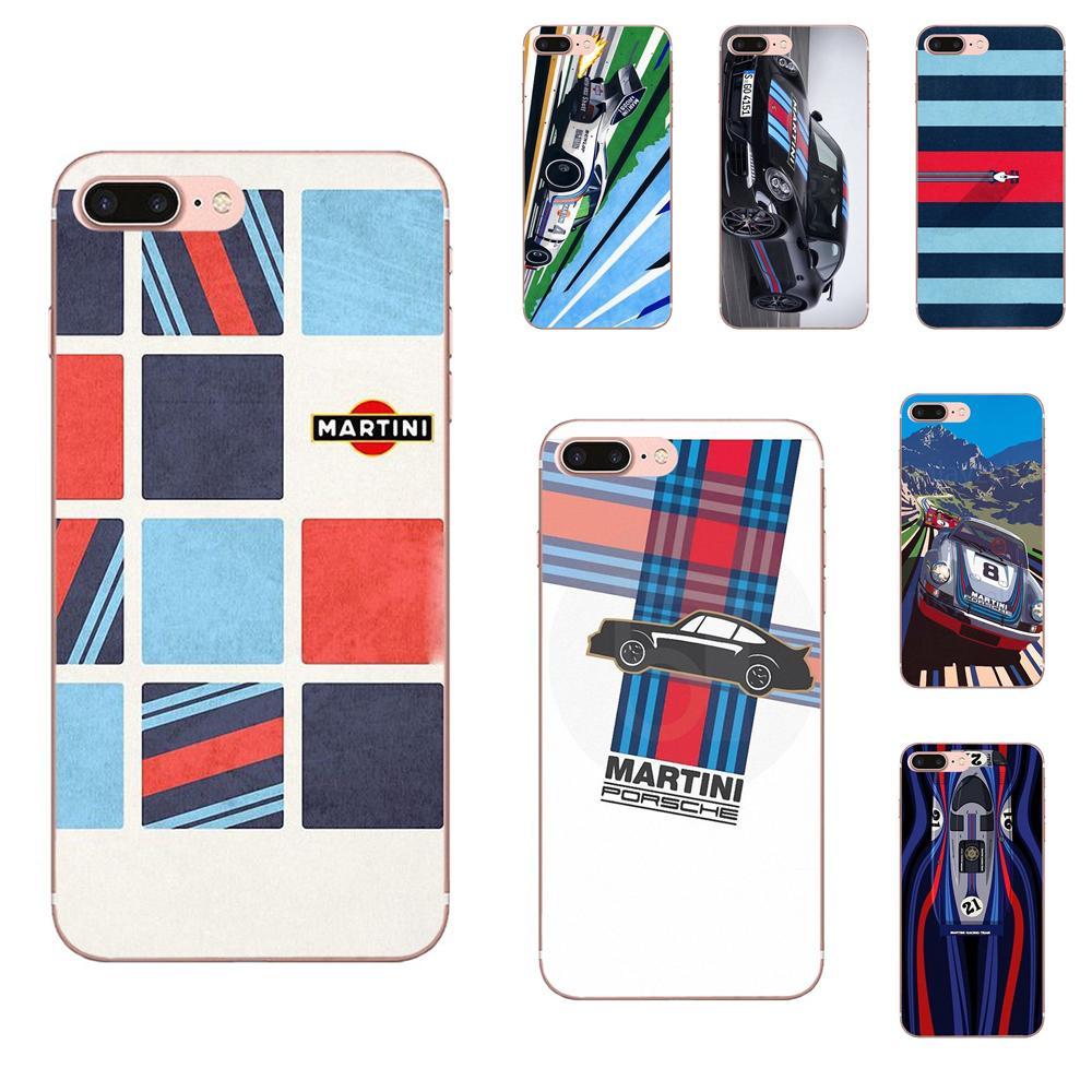 Martini Racing colores Cool TPU bolsas casos para Samsung Galaxy Note 8 9 10 Pro S4 S5 S6 S7 S8 S9 S10 S11 S11E S20 Edge Plus Ultra
