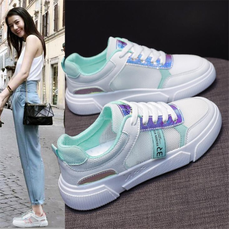 2021 Spring New Sneakers Women Korean Version Small White Shoes Street Shooting Running Casual Shoes Female Zapatillas Mujer