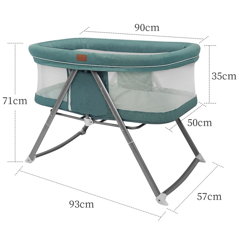 Dearest Baby Crib Multifunctional Detachable Foldable Portable And Comfortable Crib enlarge