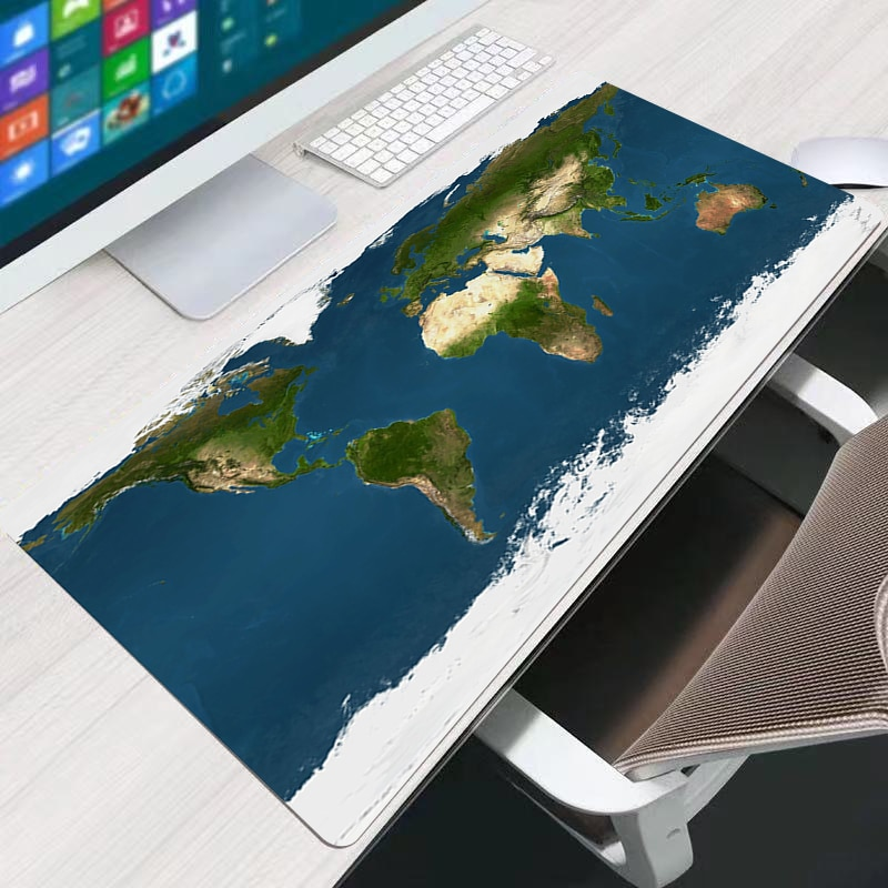 Wearable Desk  Large Mouse Pad Persian Carpet Laptop Pc Gamer Keyboard Mousepad Edge White Tassel Rubber Table Mat for Pet enlarge