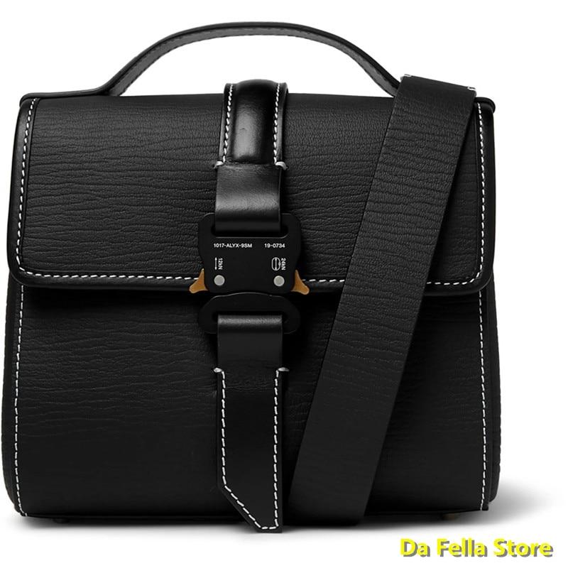 حقائب ظهر 1017-allix-9sm حقائب ظهر من الجلد بخيط مشبك معدني للسلامة حقيبة استوديو بجودة عالية إصدار حقائب رجالي ونسائي حقيبة مرفقة للخلف
