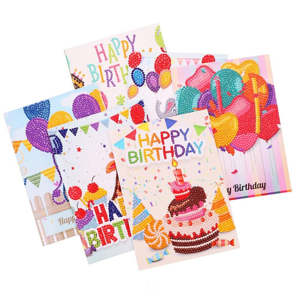 Moge 5D diy diamond painting cards diamond painting birthday card diamond embroidery invitation cards diamond painting cards set