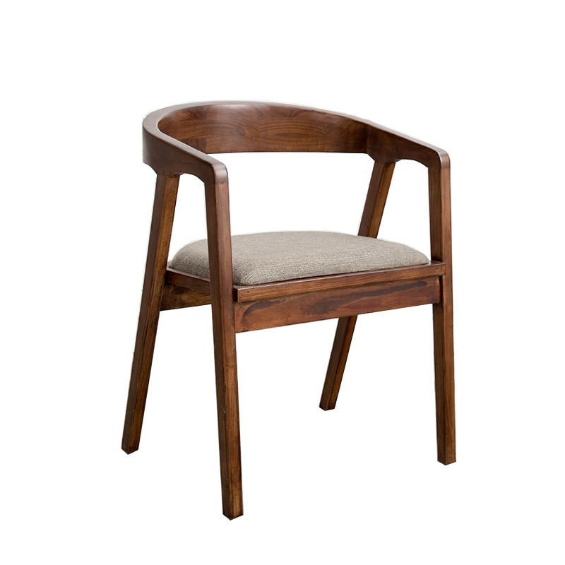 كرسي إبداعي من الخشب الصلب على الطراز الاسكندنافي ، حديث ، بسيط ، مكتب ، مقهى ، ظهر ، برميل أصلي ، عصري ، طاولة طعام منزلية