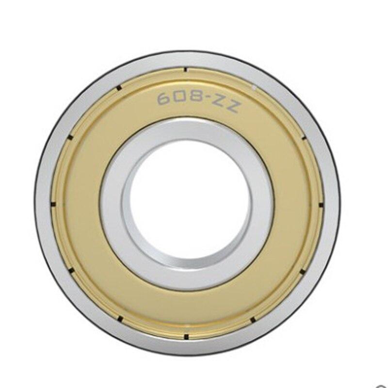 3pcs/lot 608ZZ Bearing steel Deep Groove Ball Miniature Bearings 608-ZZ 8*22*7mm 8x22x7 High Quality 52100 Chrome Steel