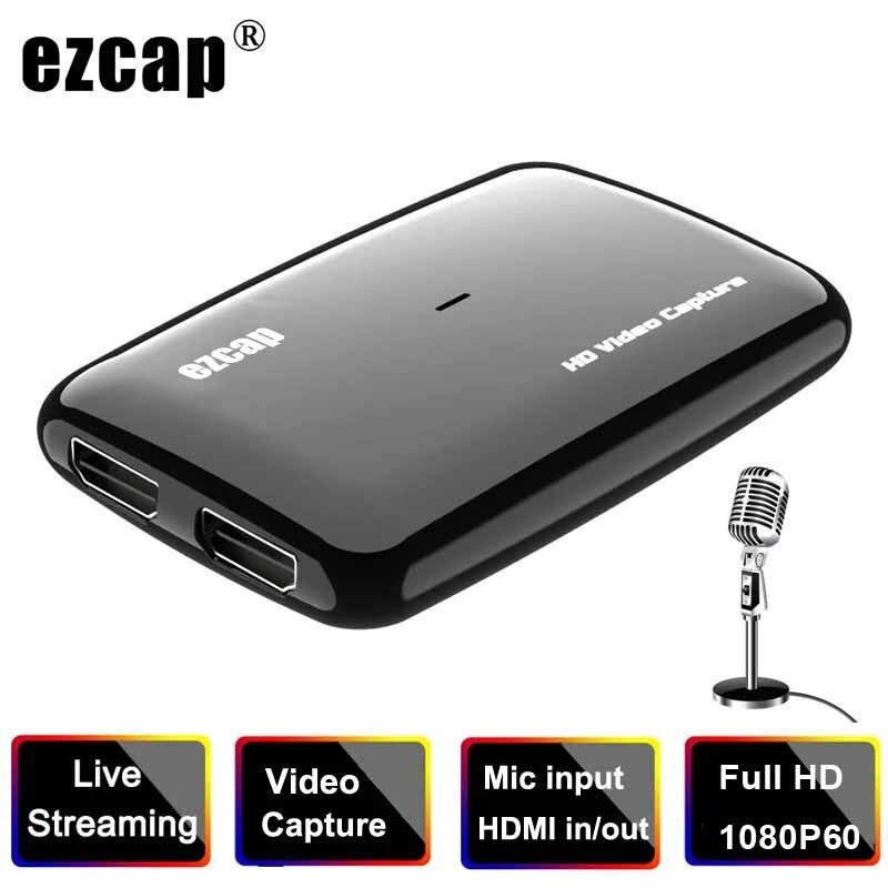Tarjeta de captura de vídeo 1080P 60FPS HDMI a USB 3,0, grabador...