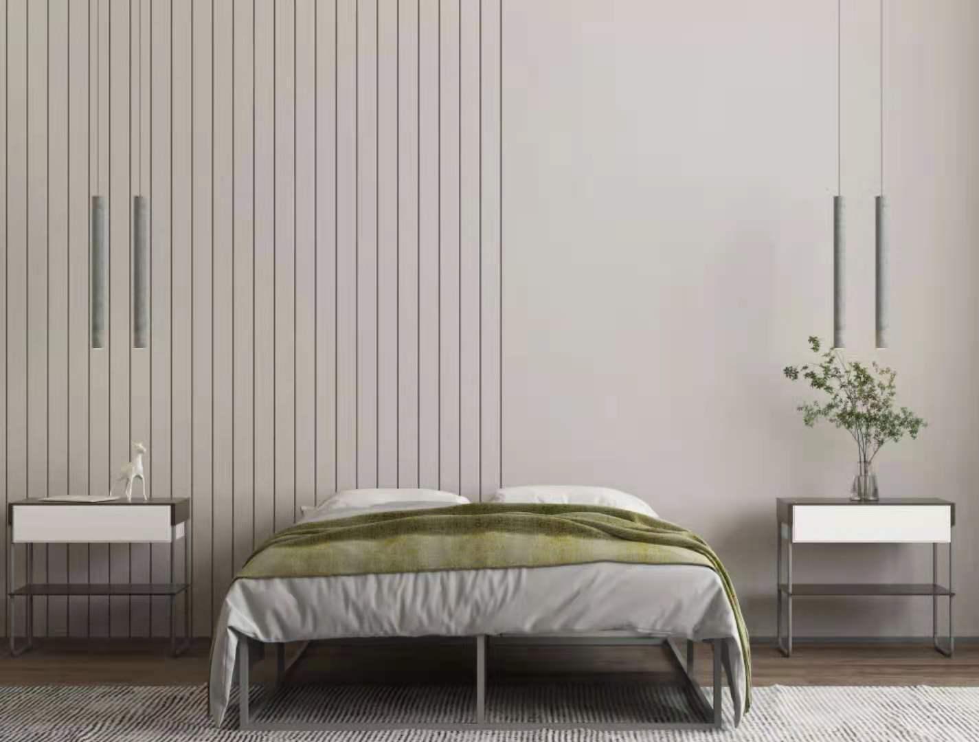 سرير معدني ، إطار سرير بلا أرجل ، ربيع صندوق ، هيكل معدني قوي ، سهل التجميع ، مقاس كامل ، رمادي