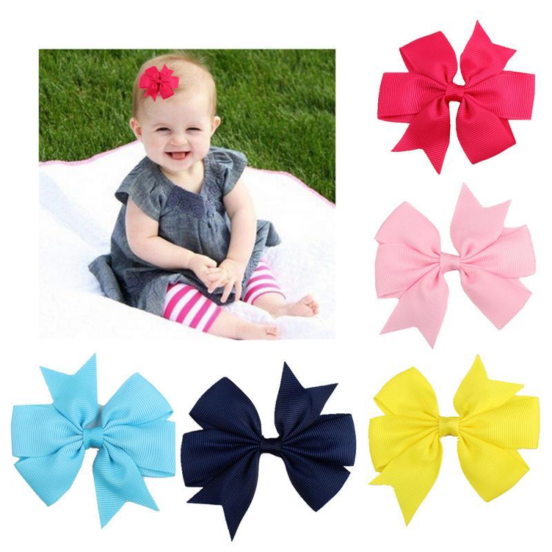 5 cores sólida fita de cauda de andorinha arco nó crianças hairpin para meninas cabelo do bebê acessórios de roupas 1 pçs pino de cabelo