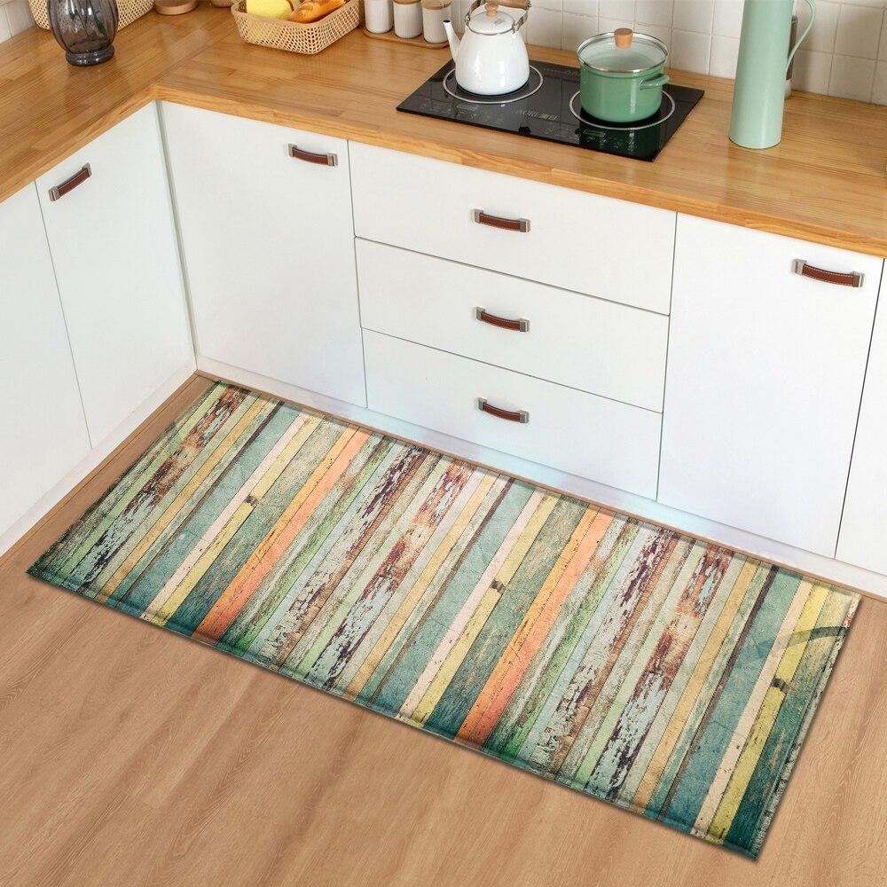 Alfombra de cocina moderna, Felpudo de entrada para dormitorio, recibidor de Casa de grano de madera, decoración de suelo, sala de estar alfombra para, alfombra antideslizante para Baño