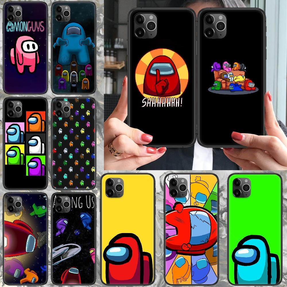 Funda de teléfono de juego para iphone 4 4s 5 5S SE 5C 6 6S 7 8 plus X XS XR 11 PRO MAX 2020 negro Etui lujo parachoques suave hoesjes