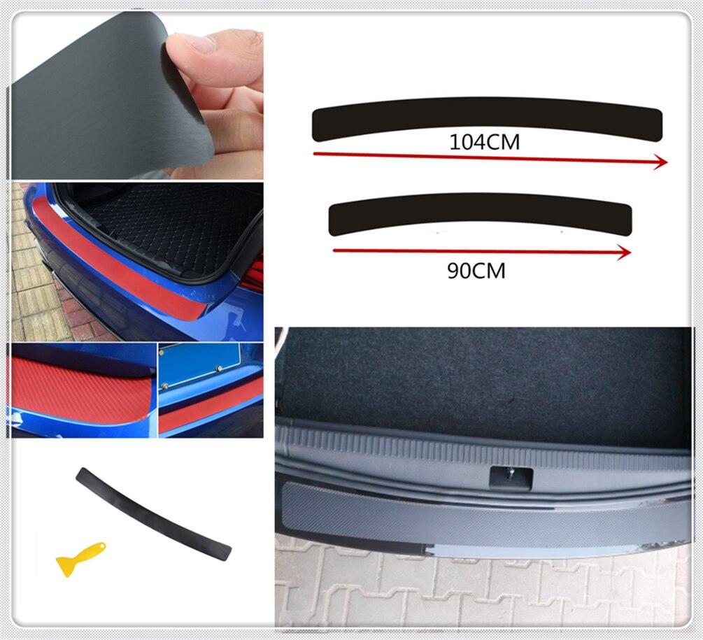 Placa de protección trasera de coche con tira antiarañazos almohadilla de protección para maletero Fiat Idea Bravo Sedici Grande Punto Palio Uno