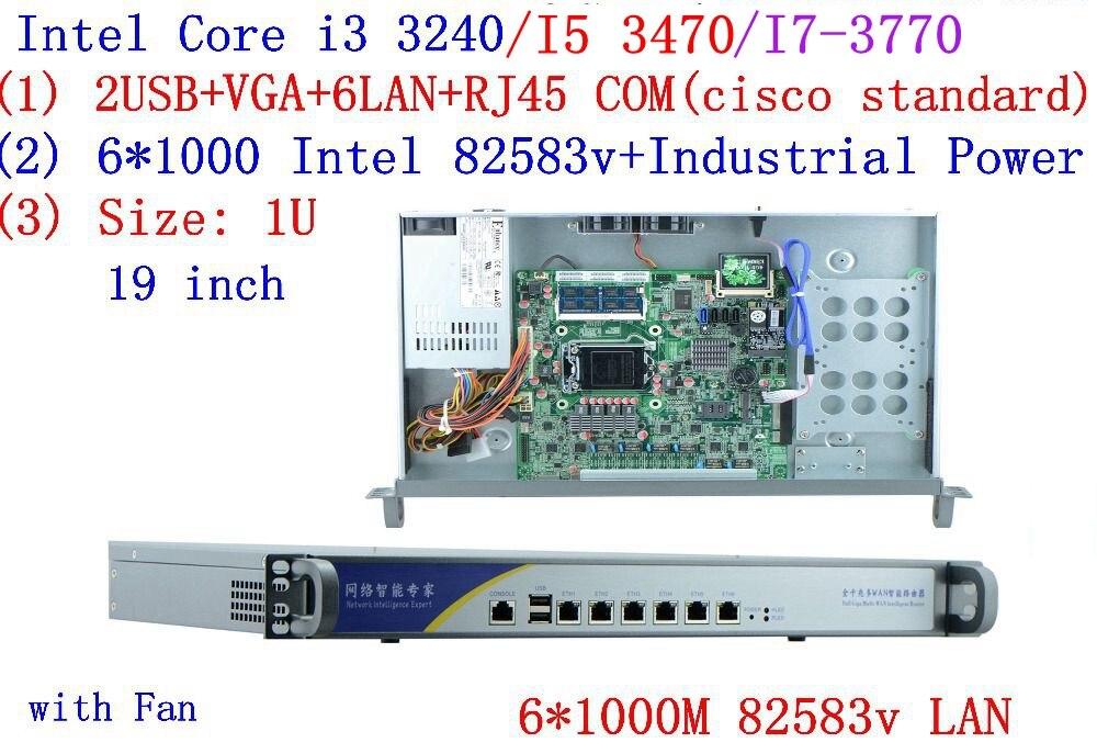 Intel core i7 3770 3,4G 1U брандмауэр сервер с 6 intel 1000M 825853v гигабитная LAN Поддержка ROS RouterOS Mikrotik и т. Д.