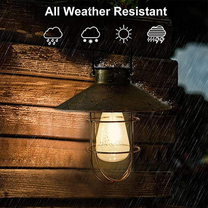 New Solar Led Light Outdoor Hanging Tungsten Solar Lamp Waterproof Street Lights For Garden Yard