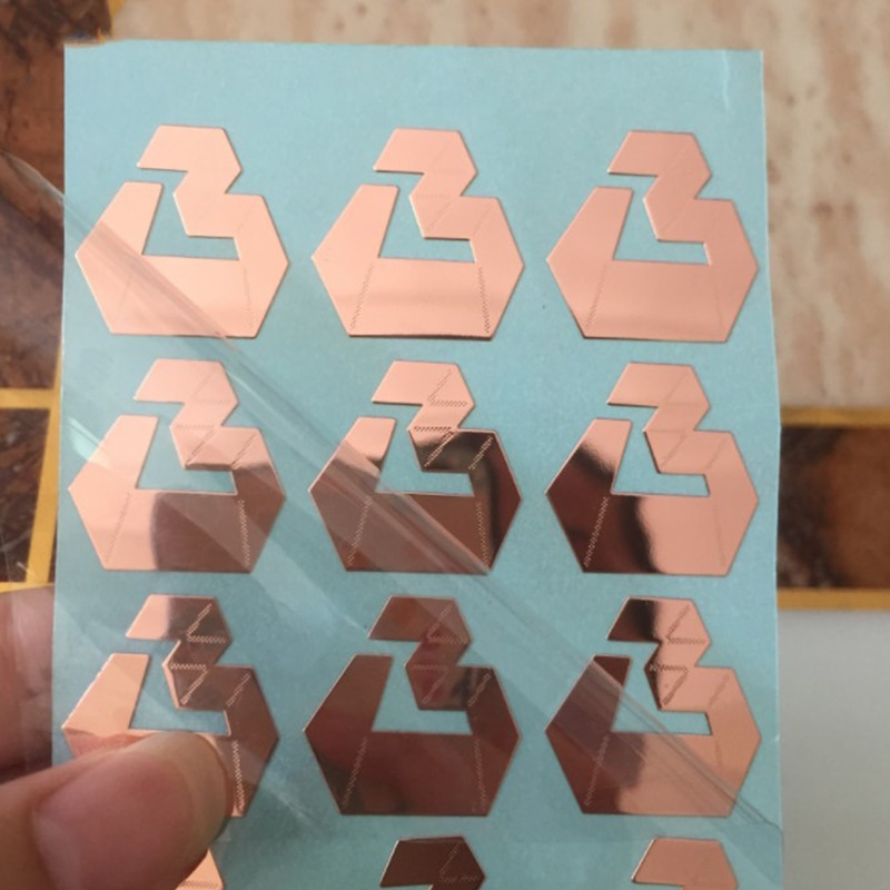 Gold Metal Transfer Sticker Paste  Personalized 3D Stickers Custom Silver 3M Glue Stationery Stickers Printing