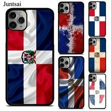 도미니카 공화국 국기 케이스 아이폰 11 12 프로 맥스 미니 XS 맥스 XR X SE 2020 6S 7 8 플러스 케이스 뒷면 커버