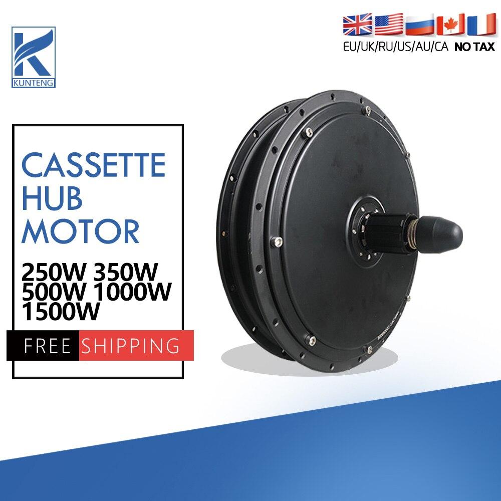 Ebike Motor 36V 48V 250//350/500W 48V1000/1500W Hub Motor Brushless Electric Bike Rear Cassette Hub Motor for Ebike Motor KIt