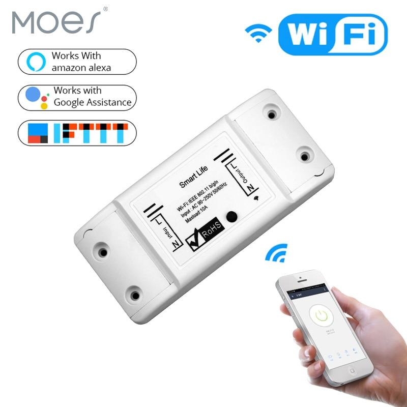 DIY WiFi Smart Light Switch Module Universal Breaker Timer Smart Life APP Wireless Remote Control Works with Alexa Google Home