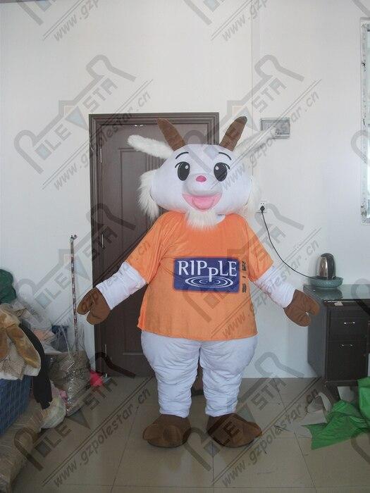 quality goat mascot  costumes cartoon plush sheep mascot design OEM logo and size