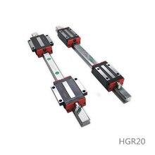 Jeu de rails linéaires HGR20   20mm Guide de glissière avec bloc de chariot HGH20HA 500/1000/1550mm