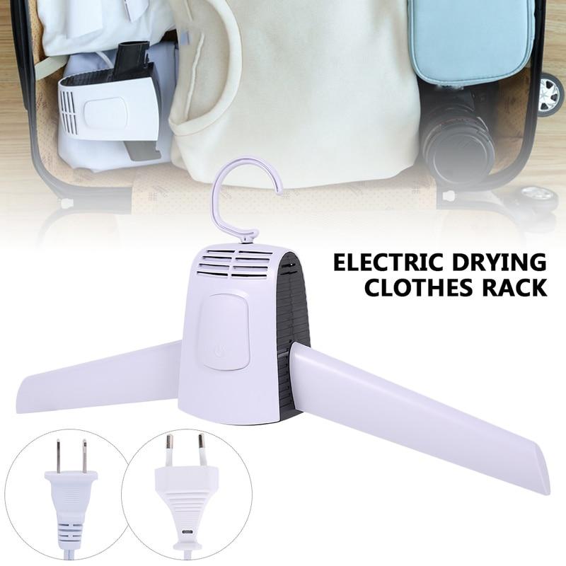 Colgador de ropa eléctrico de 110 V-220 V, colgador de tela de secado portátil inteligente para colgar, estante para máquina de secado, calentador de ropa de Interior para viajes al aire libre para el hogar