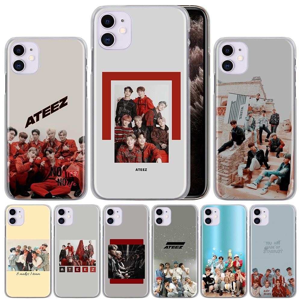 ATEEZ HongJoong SeongHWA PC cubierta trasera dura para iPhone 11 Pro X XS Max XR 7 7Plus 8 8Plus 6 6s Plus SE 2020, funda de teléfono Couqe