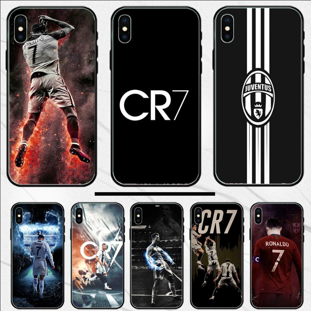 Ronaldo CR 7 C elegante funda de silicona negra recién llegado funda de teléfono para iphone 4 4S 5 5S SE 5C 6 6S 7 8 plus X XS XR 11 PRO MAX