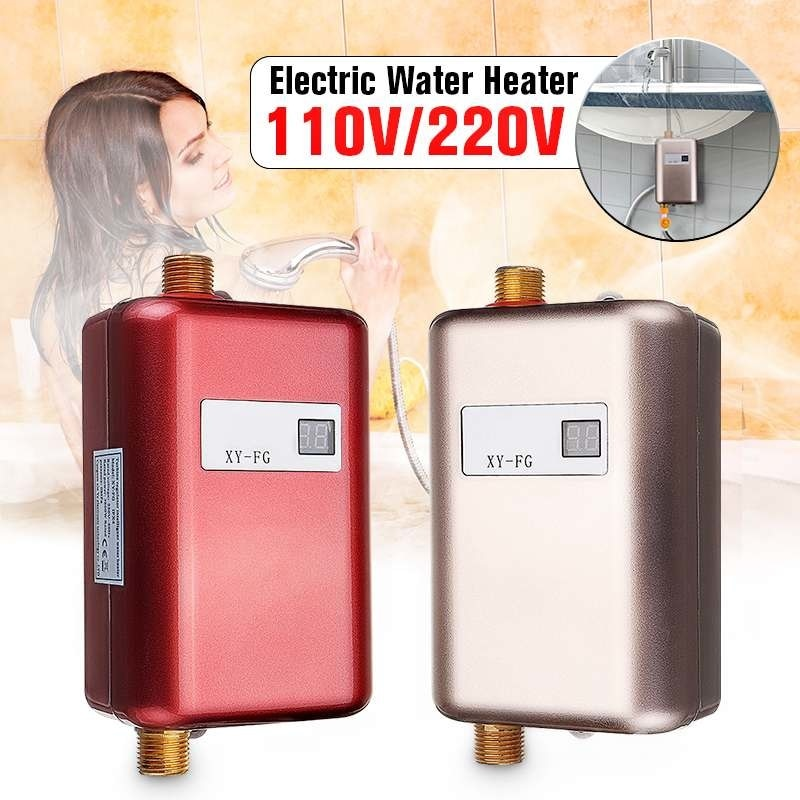 220V 3.8KW LCD Electric Tankless Instant Hot Water Heater for Bathroom Kitchen Sink Faucet Electric Water Heaters