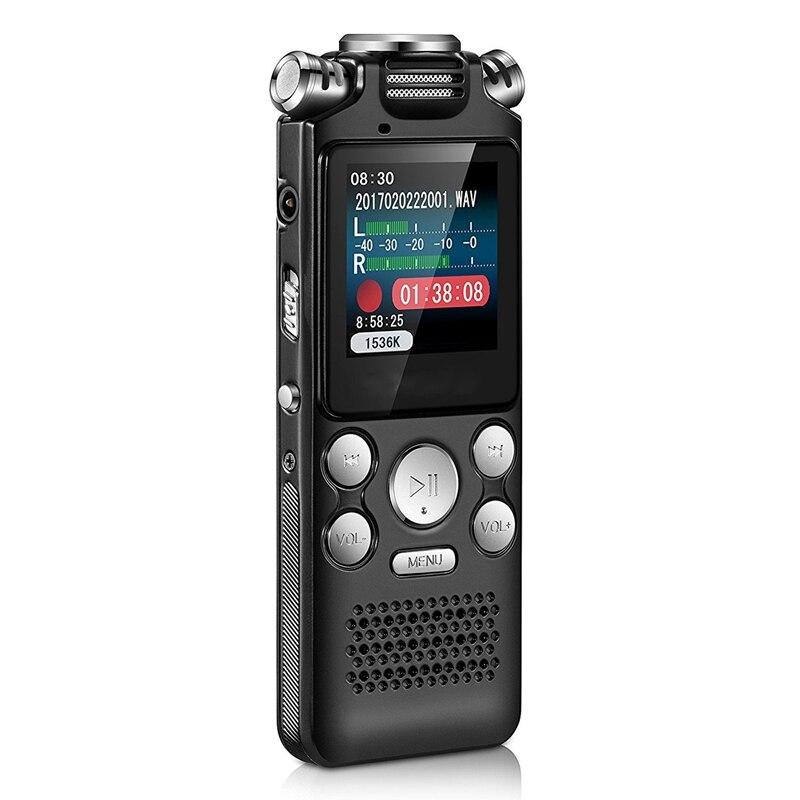 Mejores ofertas, grabadora Digital o de voz, Mini pantalla a Color sin pérdidas, sonido activado, dictáfono, reproductor MP3, grabación de ruido, Rojo