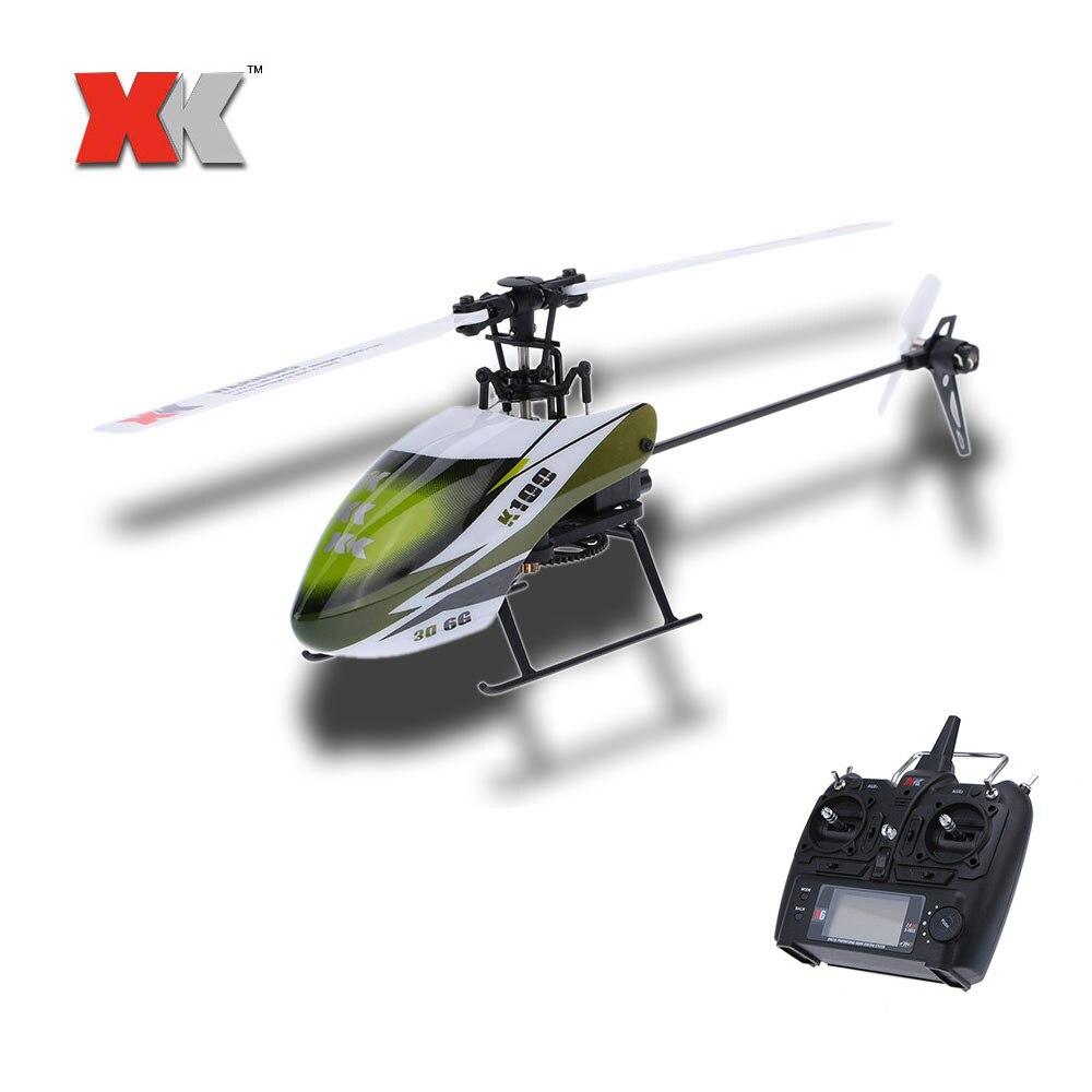 Original xk falcon k100 rc helicóptero 6ch 3d 6g sistema rtf 120m distância de controle remoto rc helicóptero do miúdo brinquedos presentes natal