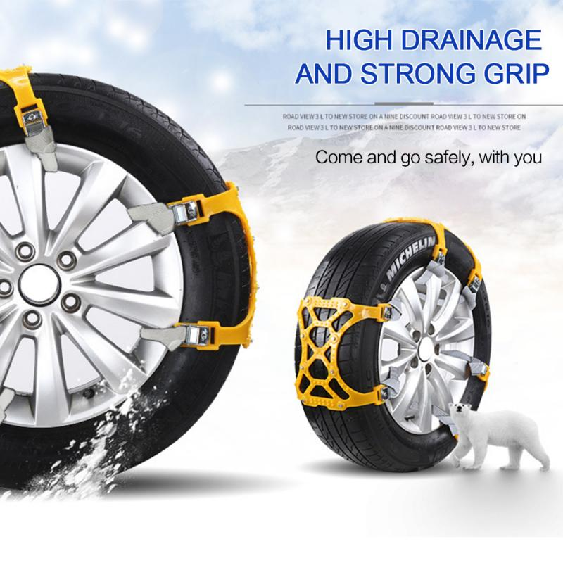 1/3/6/12Pcs Car Tyre Winter Roadway Safety Tire Snow Adjustable Safety Chain For Truck Tire Chain Anti-skid Belt Car Accessories