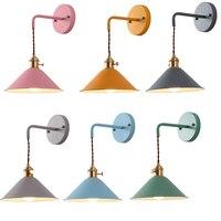 LED indoor wall lamp For home interior lighting Living room decoration Macaron Samll Black Umbrelca Wall Lamp E27 Socket Sconces