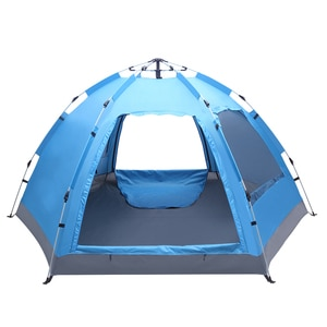 【US Warehouse】3-4 Person Automatic Family Tent Instant Pop Up Waterproof for Camping Hiking Travel Outdoor Activities  (Tent)