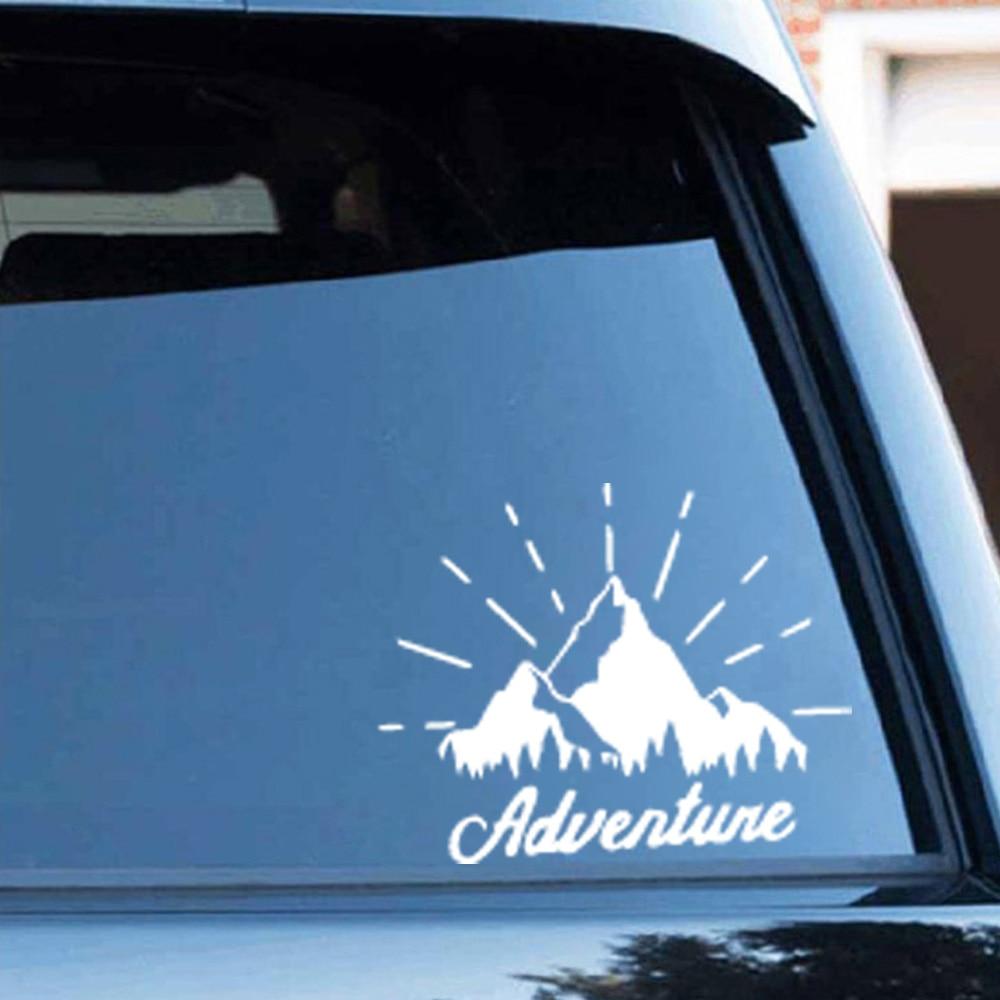 Красивые аксессуары для горного автомобиля, оригинальные виниловые наклейки для экстерьера, наклейки для автомобиля, наклейки на окна, нак... 2 шт виниловые наклейки на окна для автомобиля