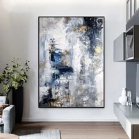 abstract oil painting handmade blue modern mural art for home cuadros canvas painting large sofa decoration frameless painting
