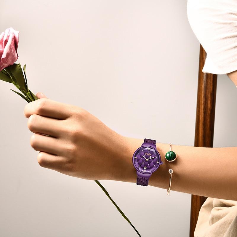 Relogio Feminino 2021 SUNKTA Womens Watch Blue Fashion Watch Women Mesh Waterproof Clock Slim Quartz Ladies Watch Zegarek Damski enlarge