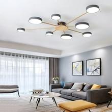 Lámpara de techo LED para dormitorio, candelabro minimalista, moderno y nórdico, para sala de estar, restaurante, hotel, macarrón, iluminación de hierro