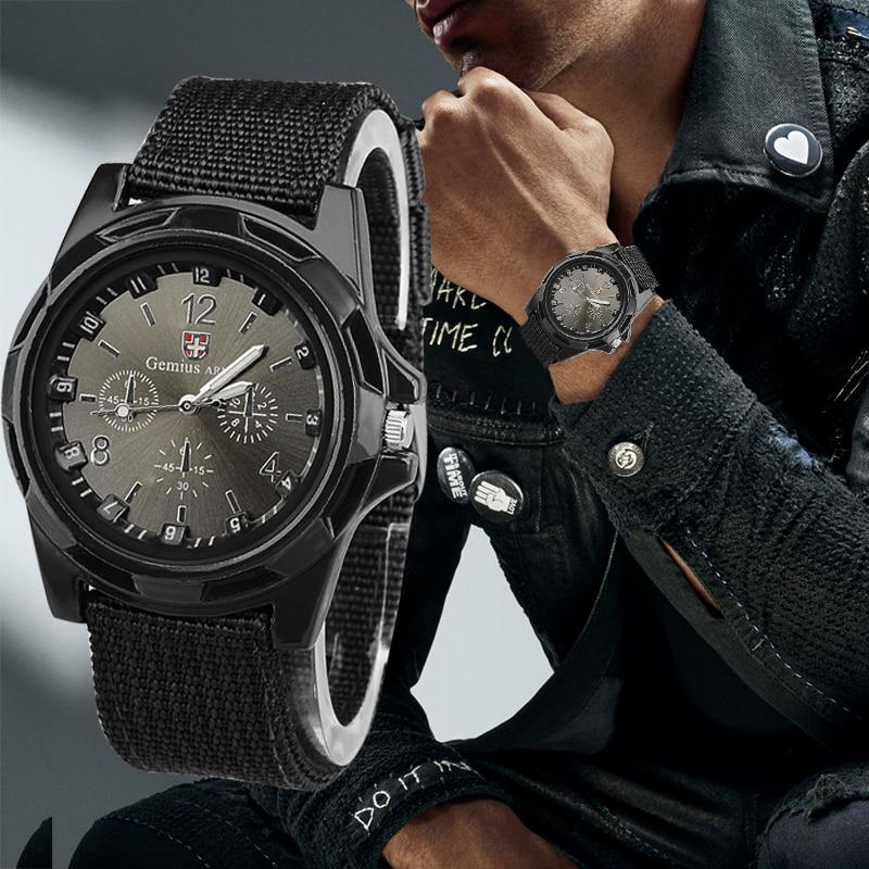 Reloj deportivo para hombre, reloj de pulsera Gemius Army para hombre, reloj militar de nailon para hombre