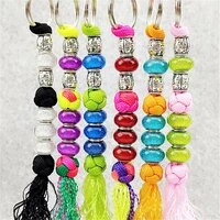 10pcs color glitter rondelle beads big hole spacer charms fit pandora bracelet bangle cord key chain necklace earrings jewelry
