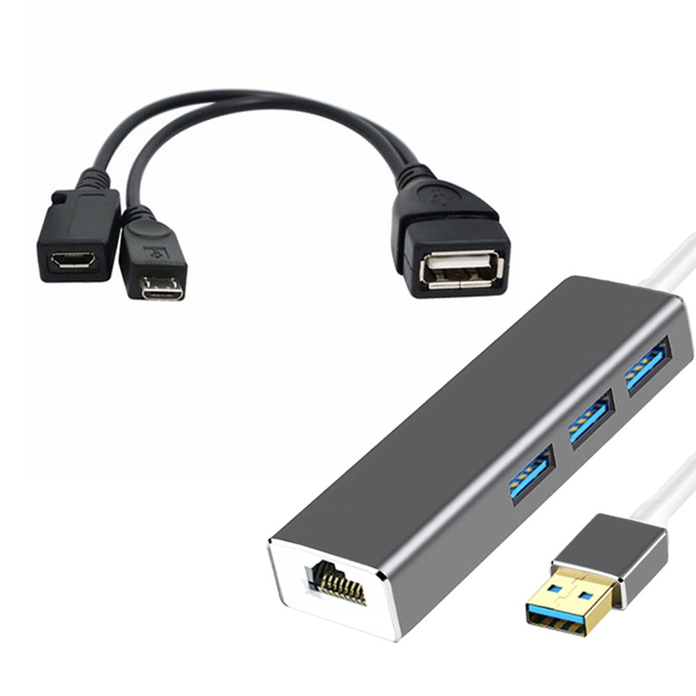 orico h4928 u3 v1 4 port usb 3 0 hub with usb 3 0 cable black 3 PORT USB HUB LAN Ethernet Connector & OTG Adapter For Amazon Fire 3 Port Adapter Hub USB Connector Cable for FIRE STICK