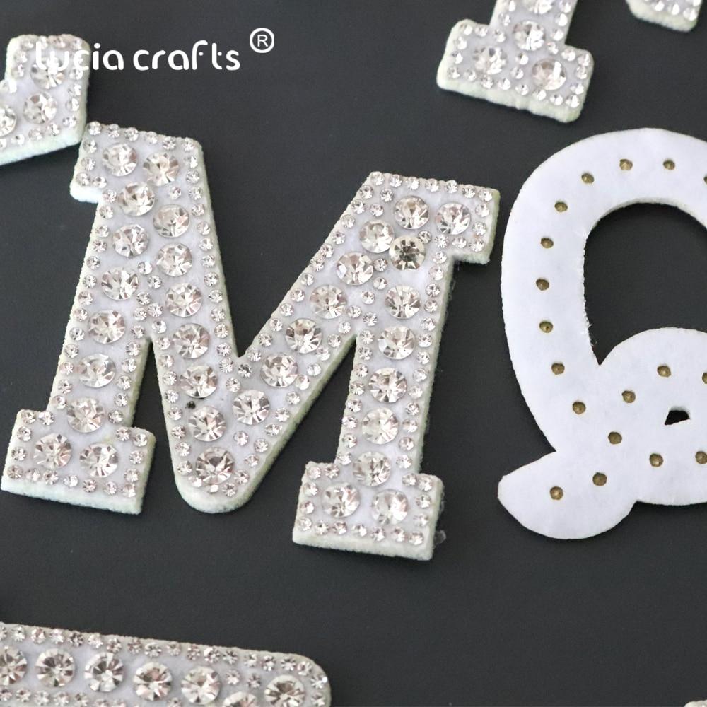 Parches para coser/pegar en la ropa, con letras A-Z, de cristal y diamantes de imitación, luciérnagas L0917