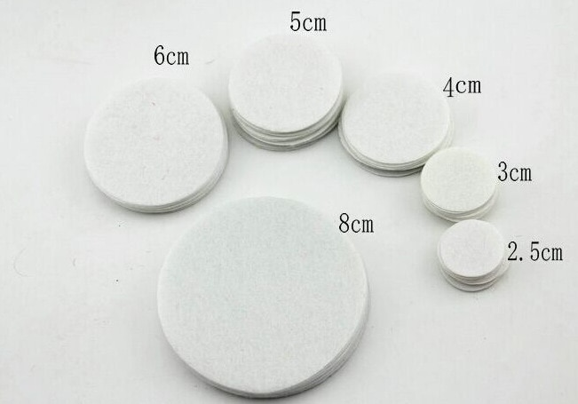 Crafts 300pcs/lot 2-5cm White Non Woven Round Felt Circle Fabric Pads Accessory Craft DIY Home Patch Flower Accessories