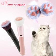 Makeup Brushes Cute Cat Feet Brush Blush Wood Handle Foundation Blending Face Brush Cosmetic Beauty