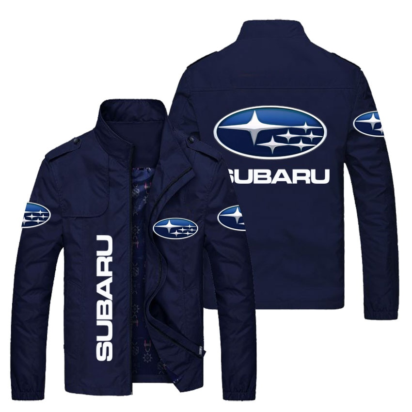 Spring and autumn fashion jacket men's car logo printing slim fit men's casual sunscreen windproof zipper jacket
