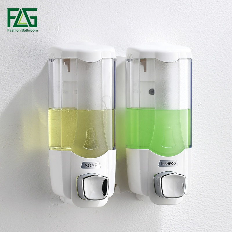 Dispensador de jabón líquido FLG de 370ml, dispensador de jabón de champú montado en la pared, dispensador manual de jabón de Hotel de alta calidad P268-01W