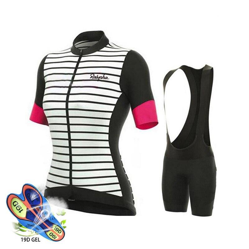 Conjunto de Ropa de Ciclismo de equipo profesional para mujer, Maillot y...